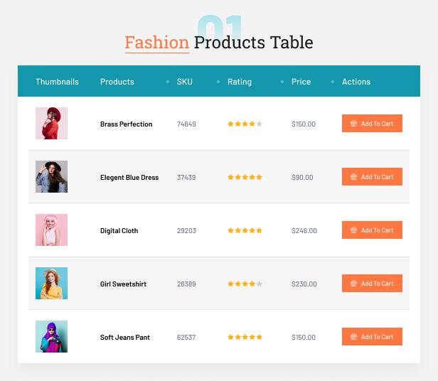Fashion Table