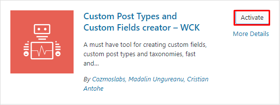 install custom field creator