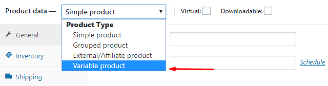 variable product