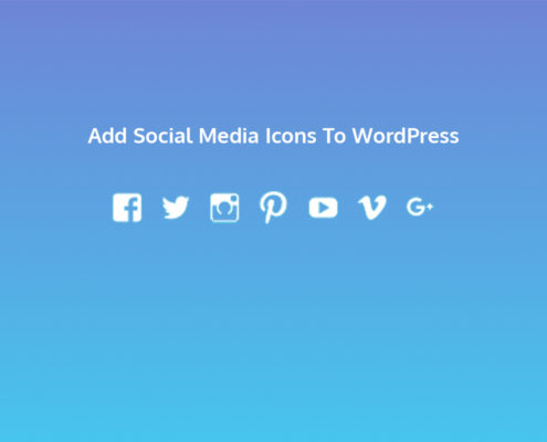 Add Social Media Icons To WordPress
