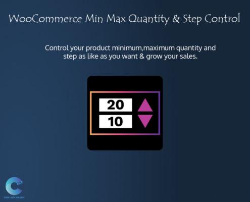 WooCommerce Min Max Quantity & Step Control