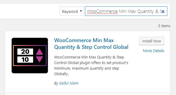 WooCommerce Min Max Quantity & Step Control Global Installation