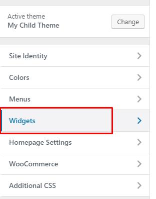Configuring Widget