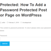 How To Add a Password Protected Post or Page on WordPress