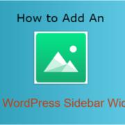 How to Add an Image to WordPress Sidebar Widget